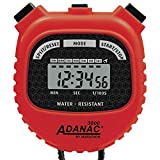 MARATHON Adanac 3000 Digital Sports Stopwatch Timer with Extra Large Display and Buttons, Water Resistant (Red, Pack of 1) (Renewed)