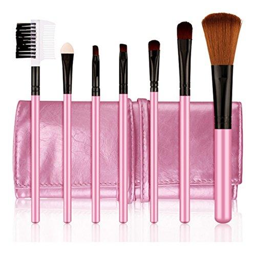 7pcs pinceau de maquillage professionnel outils pinceau cosmétique supérieure définie rose