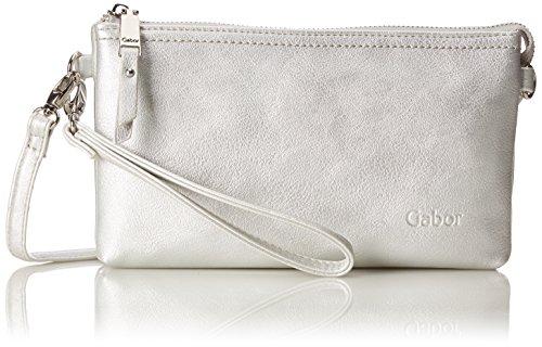 Gabor bags Clutch Abendtasche Damen Emmy, Silber, one size, Handtasche, Gabor Tasche Damen