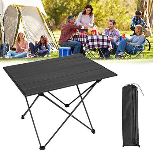 BSTQC Anti-Rutsch-Durable Mini Picknick-Tisch für Camping Wandern Reisen Aluminiumlegierung Roll-Top Camping Table Roll Up Table <> Aluminiumlegierung Roll-Top Camping Tisch, Campingtisch Klapp