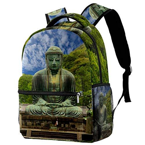 The Great Buddha Daibutsu mochila escolar para niños, mochila escolar, tamaño 29,2 x 20,3 x 40,6 cm. Multi01. 29.4x20x40cm/11.5x8x16 in