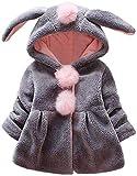 ZALA Abrigo Bebe Niña, Niño Orejas De Conejo Abrigo con Capucha Niña Ropa De Bebé Bebé Otoño E Invierno Abrigo Grueso Abrigo De Bebé Niña Recién Nacida (1,0-6 Meses)