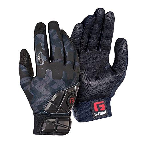 G-Form Baseball/Softball Batting Gloves - Black - Adult X-Large(1 Pair)