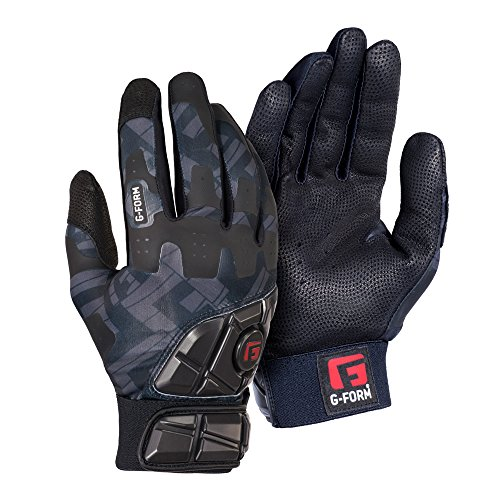G-Form Baseball/Softball Batting Gloves - Black - Adult Large(1 Pair)
