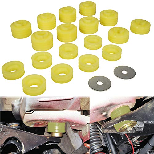 KF04050BK Body Mount Bushing Kit for Ford F250 F350 1999-2017 2WD 4WD Polyurethane Body Mounts Yellow