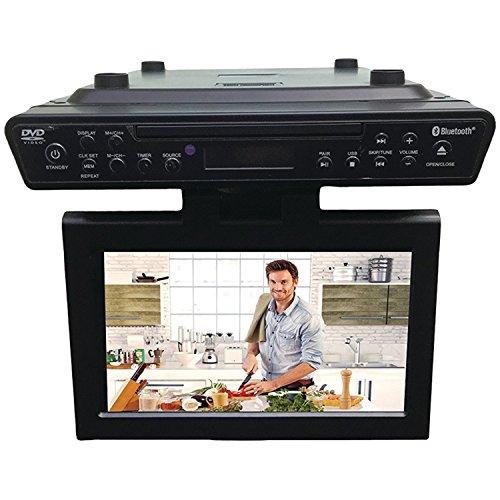 Lowest Price! Sylvania SKCR2706BT 10.2 Under Cabinet Kitchen TV with Built in DVD Player & HDMI, Bl...