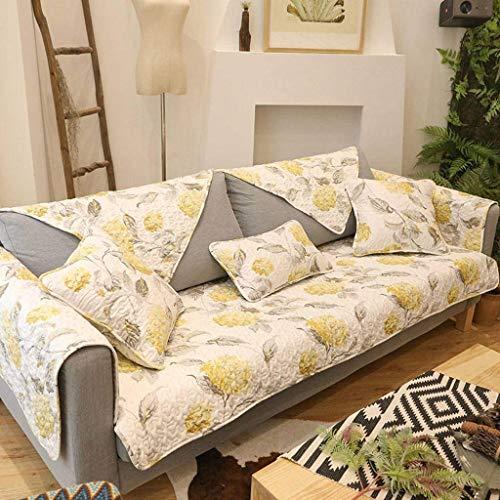 Jonist Funda de sofá de algodón, Pase de Temporada Simple, Antideslizante, para Sala de Estar, cojín para Muebles, Shield-O-70120cm