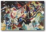 DPZAFL Lienzos Decorativos Wassily Kandinsky composición Vi...