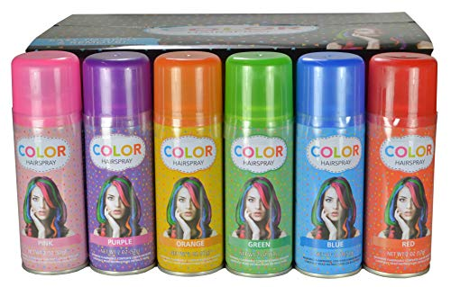 Temporary Hair Color Spray - Case (24 Cans) - 6 Colors