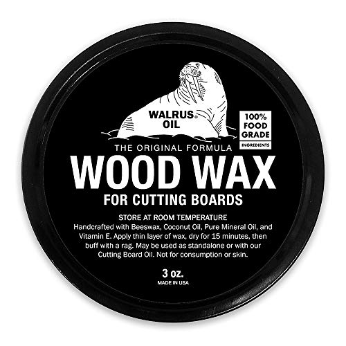 WALRUS OIL - Wood Wax, 3 oz Can, FDA Food-Safe, Cutting Board Wax and Board Cream