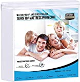 Utopia Bedding Premium 200 GSM 100% Waterproof Mattress Protector, Cotton Terry Mattress Cover, Breathable, Fitted Style All Around Elastic (Twin)