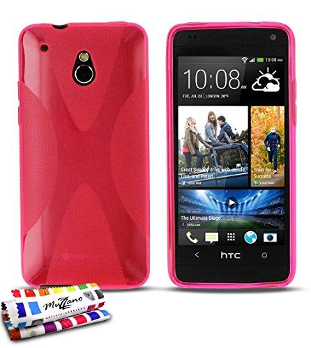 MUZZANO Original X-Cover Flessibile, per HTC One Mini M4, Colore: Rosa