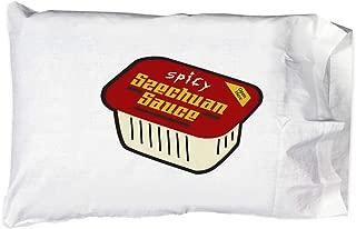 Hat Shark Pillow Case Single Pillowcase - Red Szechuan Sauce Cartoon Parody
