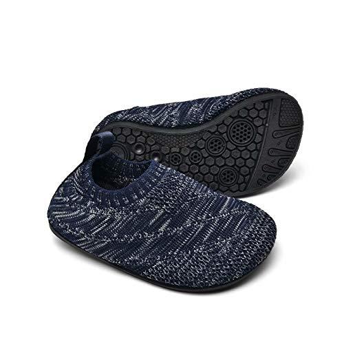 Sosenfer Zapatillas de Estar por casa Kids Slipper Calcetines Zapatos Antideslizantes de Punto para niños y niñas Pantuflas Infantiles Unisex-SHLANHUI-22