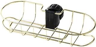 バルブステンレス鋼板調節可能な棚シンク水切りスポンジ布取付キッチンキャビネットバスソープ