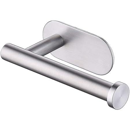 Porte Papier Toilette Auto-adhésif 3M en acier inoxydable, sans perçage, forte adhérence et étanche. Par BIIYOOVE.