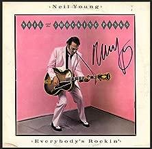neil young autographed album