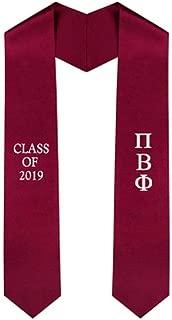 Custom Pi Beta Phi Embroidered Graduation Sash Stole