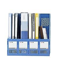 ファイルラック 4つのファイルバスケット オフィスファイルラック ディスプレイスタンド ファイルホルダー