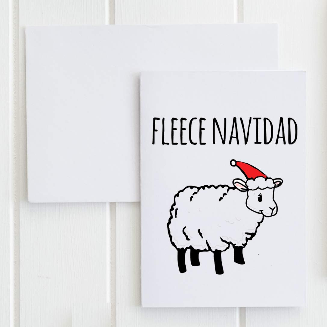 NEW Fleece Outlet SALE Navidad Holiday Greeting Card.