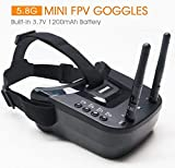 5.8Ghz FPV Goggles, ARRIS VR-009 Video Headset 5.8G 40CH HD 3 Inch 16:9 Display...