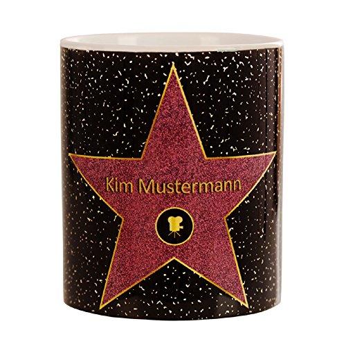 Walk of fame - personalisierte Tasse - Star of fame - Kaffeebecher mit Personalisierung - Becher für Hollywood Stars - persönliche Kaffeetasse mit Name - Becher für Tee und Kaffee mit Wunschname…