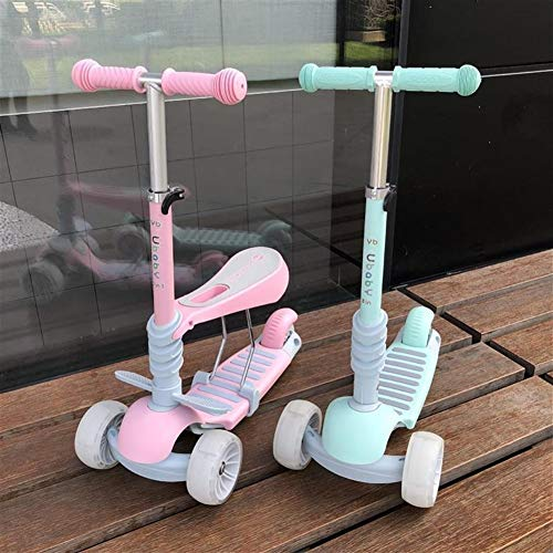 Safe Baby Baby Scooter Kinder Dreirad Roller Triple-Multifunktionsbaby sit Kinder Tretauto gleiten yo (Color : Blue)