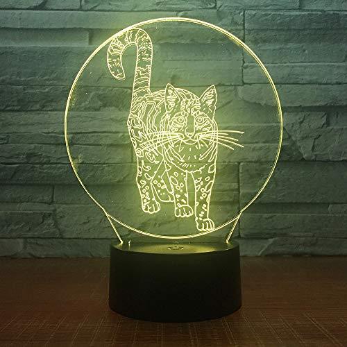 Kreative elektronische Illusionsfarbe des netten Katzennachtlichts kann die Geschenkausgangsschlafzimmerdekoration der Notentischlampenkinder ändern
