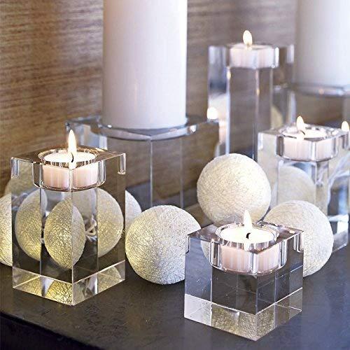 Decentgadget K9, candelabro in cristallo, Cristallo, 4CM+6CM+8CM combination