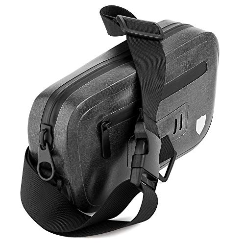 Durabag 100% Waterproof Fanny Pack with Airtight Zipper Waist Bag for Running, Cycling, Hiking, Kayaking, Camping - Protection for Smartphone and Handheld Camera from Dust Rain and Water