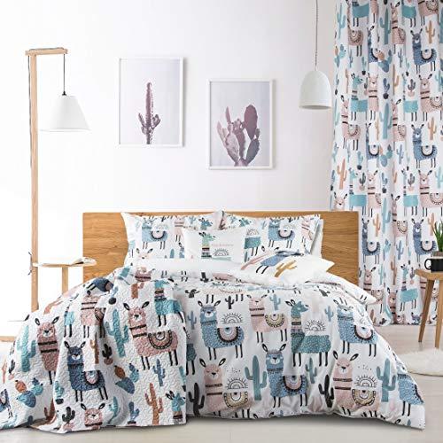 Design91 Tagesdecke zum Kinderzimmer, Kinderdecke, Bunte Decke, Bettüberwurf für Kinder, Bettdecke Größe: 170X210 cm, Für: Mädchen und Jungen (Lima)