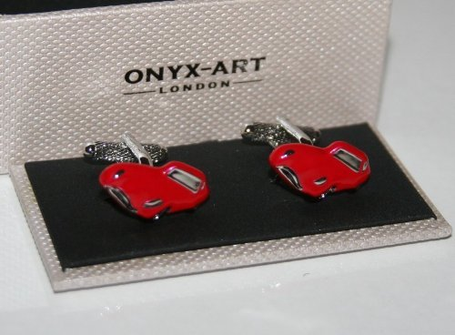 Manschettenknöpfe–Jaguar E Stil Rot Sport Auto Design