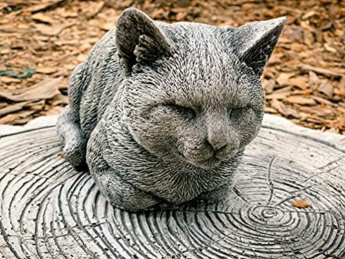 LITTLE CAT 8 lb. Cat Statue, Concrete Cat Statues, Concrete Statues Of Cats, Garden Cats, Cat Memorial Marker, Painted Cat Nappy Cat Statue Kitty Figurine