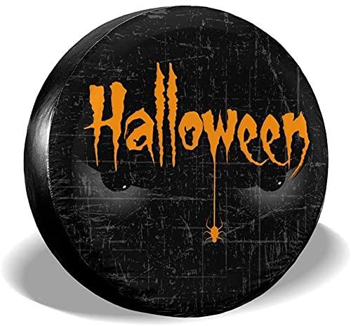Cubierta de neumático de repuesto para Halloween,poliéster,universal,de 17 pulgadas,cubierta de neumático de rueda de repuesto para remolques,vehículos recreativos,SUV,accesorios de remolques de viaj