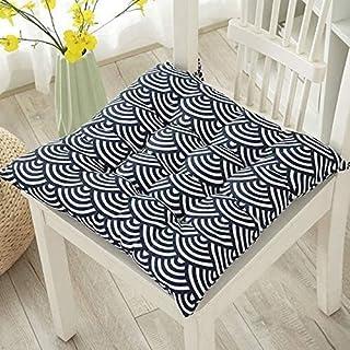 Cojines para Silla 2 Paquete de silla Asientos de ratón con los lazos, Asiento antideslizante decorativo cojines de algodón de lino trasero de la silla cojines for jardín Ministerio del Interior Almoh