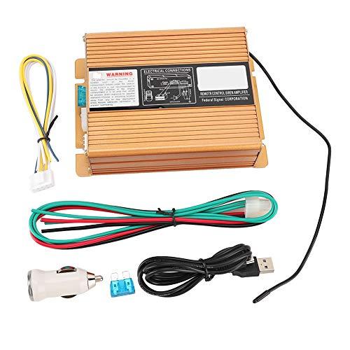 Suuonee Megaphono-alarm, 400 W, alarmsysteem voor auto, trompet met 18 tonen, megaphon, sirene, draadloze afstandsversterker