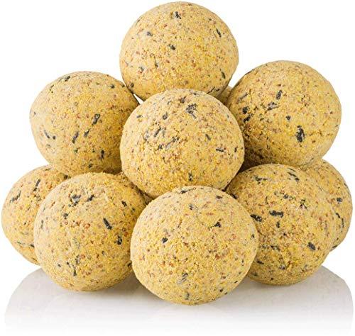 dobar - Lot de 100 boulettes de mésange dans des Filets - avec 2 Supports pour Les Suspendre - pour Toute l'année - 9 kg