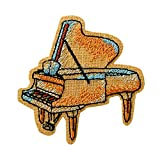 Mono Quick 0606x - Parche de instrumentos de música vintage para guitarra, notas, gorro de jazz