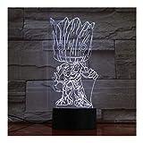 Baby Wächter Der Galaxie Action-Figuren Niedlich Modell Spielzeug 3D Nachtlampe Led-Licht Geschenke Kinder Hobbies