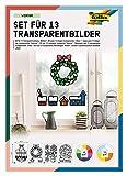 Folia, Design Invernale, Set per 13 Trasparenti, per la creazione di Immagini Colorate da Finestra e ciondoli per Alberi e arbusti, 23822