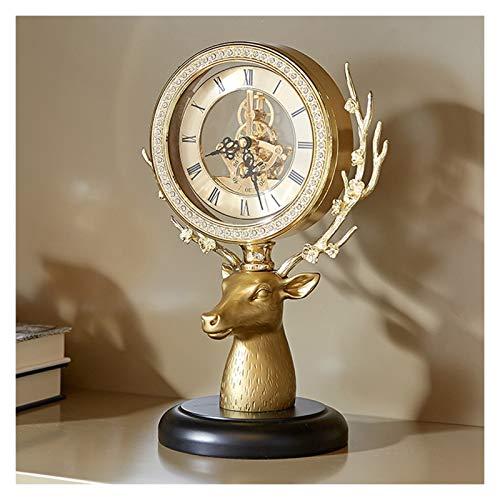 Escritorio Reloj Adornos de reloj de manzana de la aleación de vidrio, decoraciones de casas modernas, reloj de manta de un solo lado, reloj de escritorio con batería 11.4 pulgadas Reloj Sobremesa