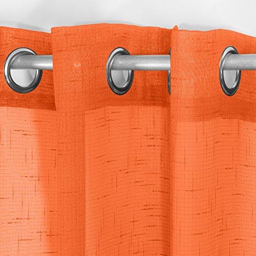 cortinas habitacion naranja