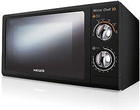 HAEGER MICRO CHEF 20 - Microondas con 700W de potencia, capacidad de 20L - 6 niveles de potencia, función de descongelación, contador de 30 minutos y iluminación interior