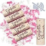 WeddingTree 6 x Confeti Cumpleaños Cañon sin Aire Comprimido - Cañon Confeti Boda una Colorida ddiversión - para Fiesta de Cumpleaños Nochevieja y Bodas - 15 cm