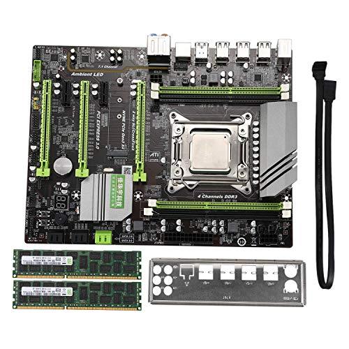 ZANYUYU X79 Turbo Placa Base ATX LGA2011 Combos E5 2620 CPU 2pcs X 8 GB = 16 GB RAM DDR3 1600MHz PC3 12800R PCI-E NVMe M.2 SSD
