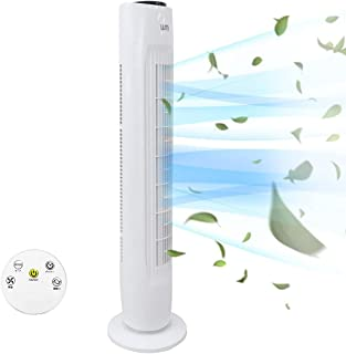 WEIMALL 扇風機 タワー型 スリム タワーファン 風量3段階 首振り タイマー機能 リモコン付き 省エネ 送風 冷風