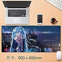 拡張大TtのEsportsも初音ミク版ゲーミングマウスパッド日本のかわいい漫画のアニメのノートパソコンのマウスマットで縫製EDGE基地すべり止めのゴム、防水、90 * 40センチメートルをパーソナライズ (サイズ : Thickness: 3mm)