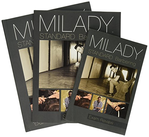 Bundle: Milady Standard Barbering, 6th + Student Workbook + Exam Review