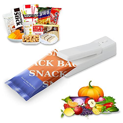 GUJIN Soldadora mini con imán que se puede pegar en el frigorífico, carga USB, sello portátil en miniatura, para bolsas de virutas, bolsas de plástico, almacenamiento de alimentos