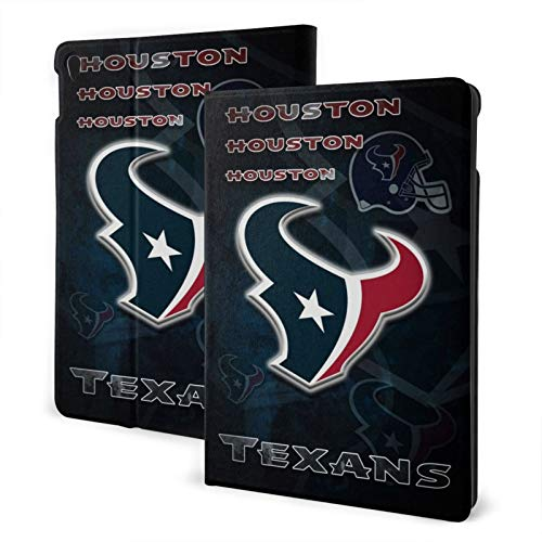 Houston Football Texan Slim Lightweight Smart Shell Stand Hard Back Protective Cover Case with Auto Wake/Sleep for Ipad One Size
